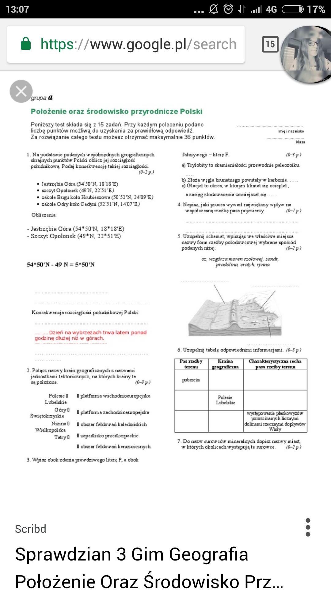 czas na geografię ćwiczenia odpowiedzi pdf