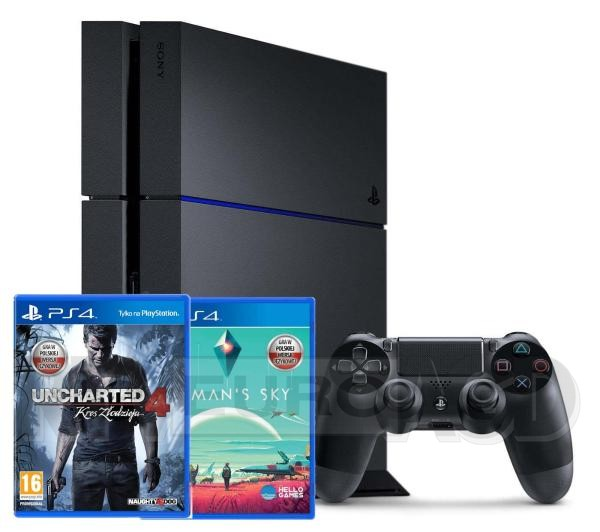 PS4 1TB + Uncharted 4 + No Man's Sky