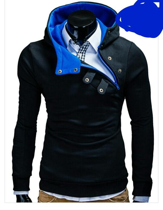 czarno - niebieska