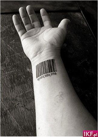 Tatuaż Kod Kreskowy In Czy Out Zapytajonetpl