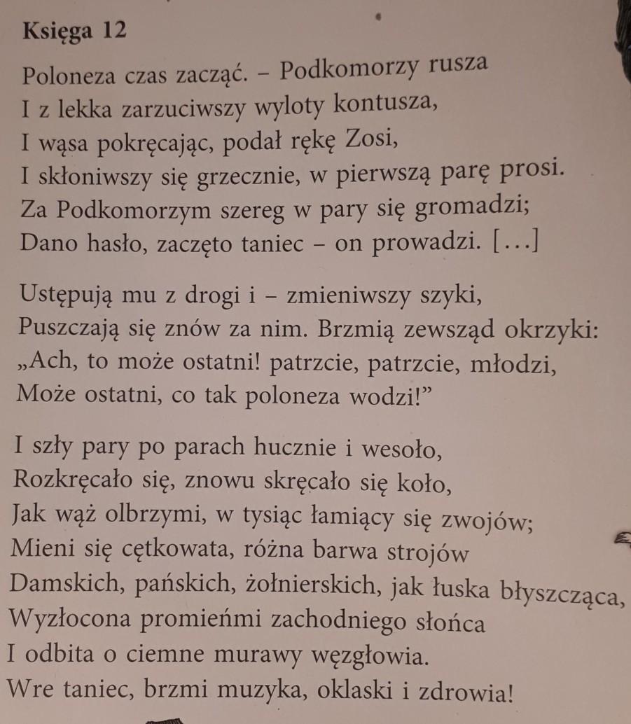 Adam Mickiewicz Pan Tadeusz W 2 6 Zdaniach Napisz Jaką