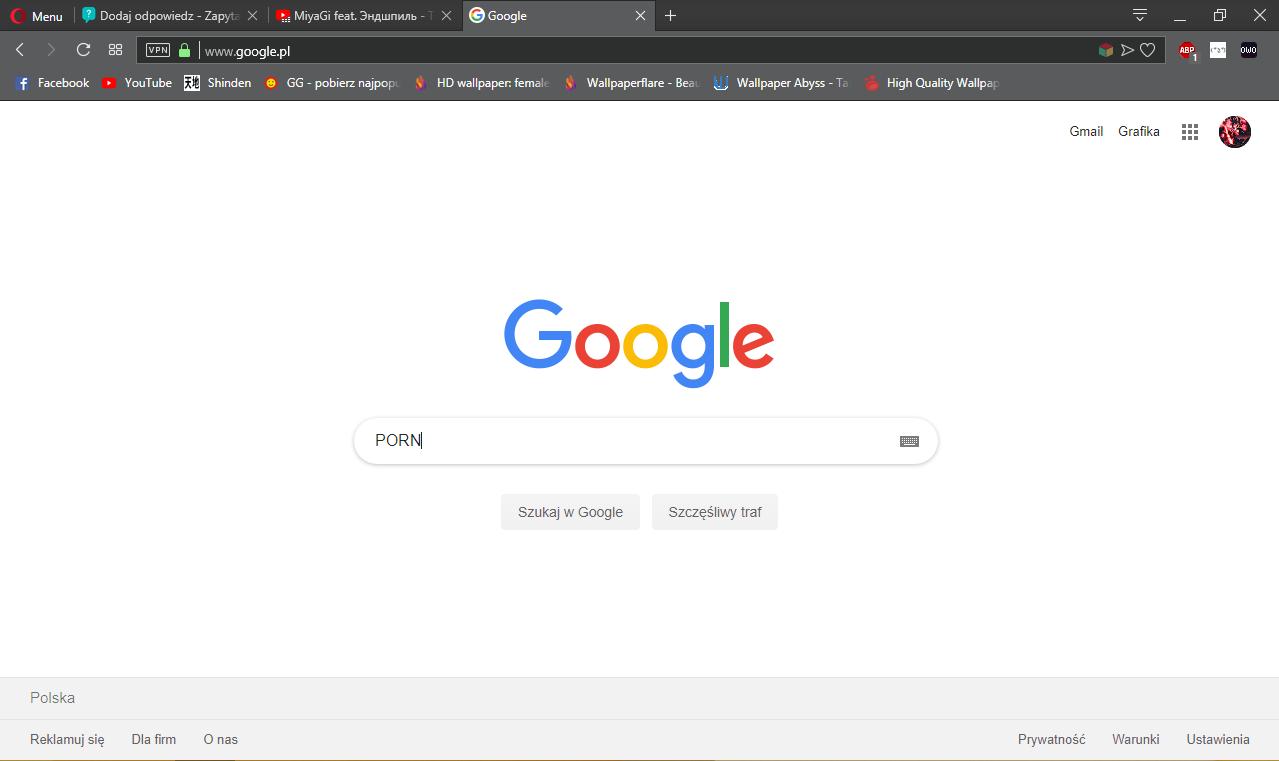 zapytaj wyszukiwarkę porno