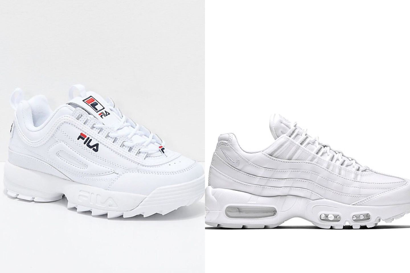 Nike air max 97 vs Adidas superstar vs Fila distruptor