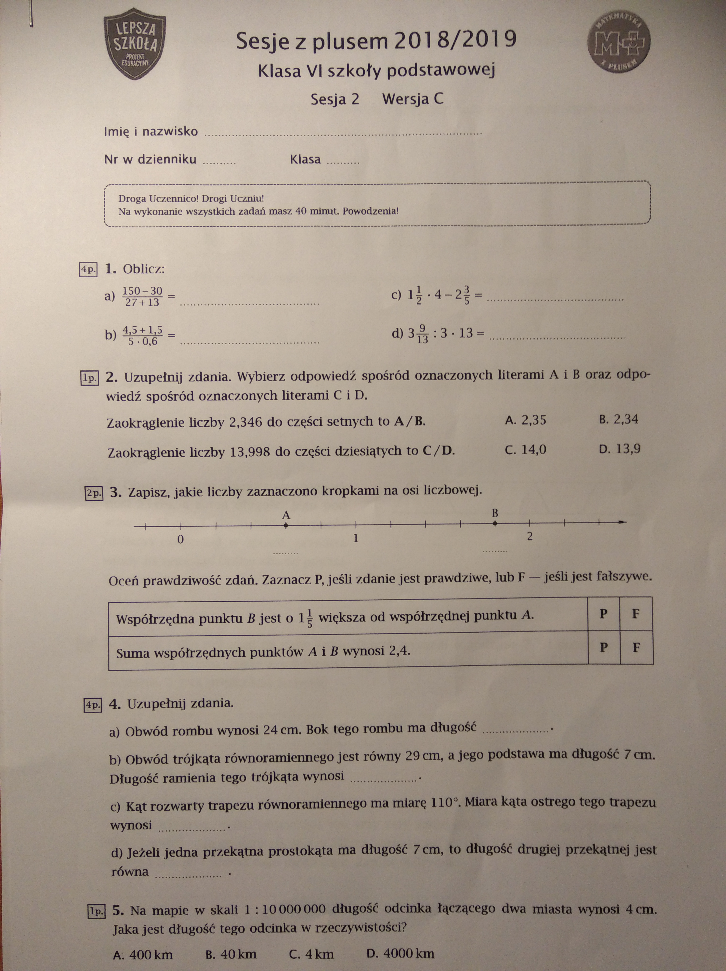 matematyka maj 2010 odpowiedzi