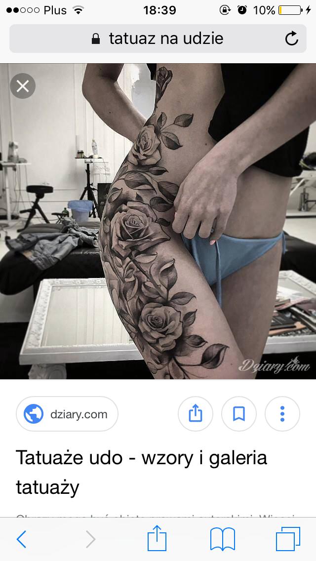 Tatuaż Na Udzie Zapytajonetpl