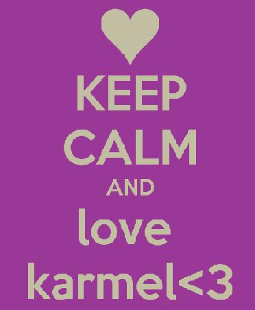 I love karmel ♥