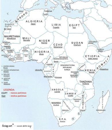 Konturowe Mapy Polityczne Kontynentow Zadania Sciagi I Testy