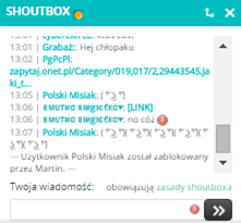 Chcemy kulturalnego Shoutboxa