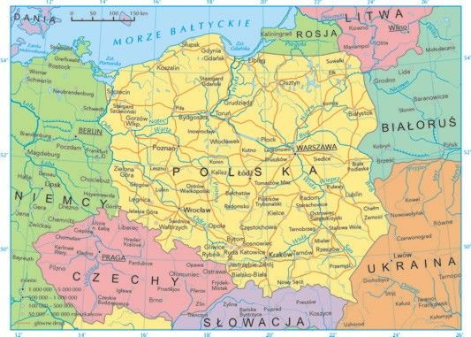 Jakich Polska Ma Sasiadow Z Poludnia Polnocy Wschodu I Zachodu