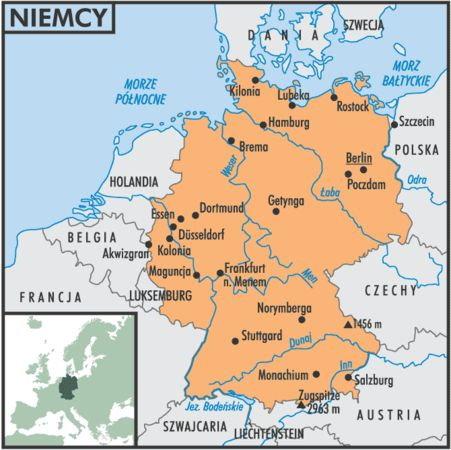 Niemcy Maja 9 Krajow Sasiedzkich Zapisz Nazwy Tych Krajow