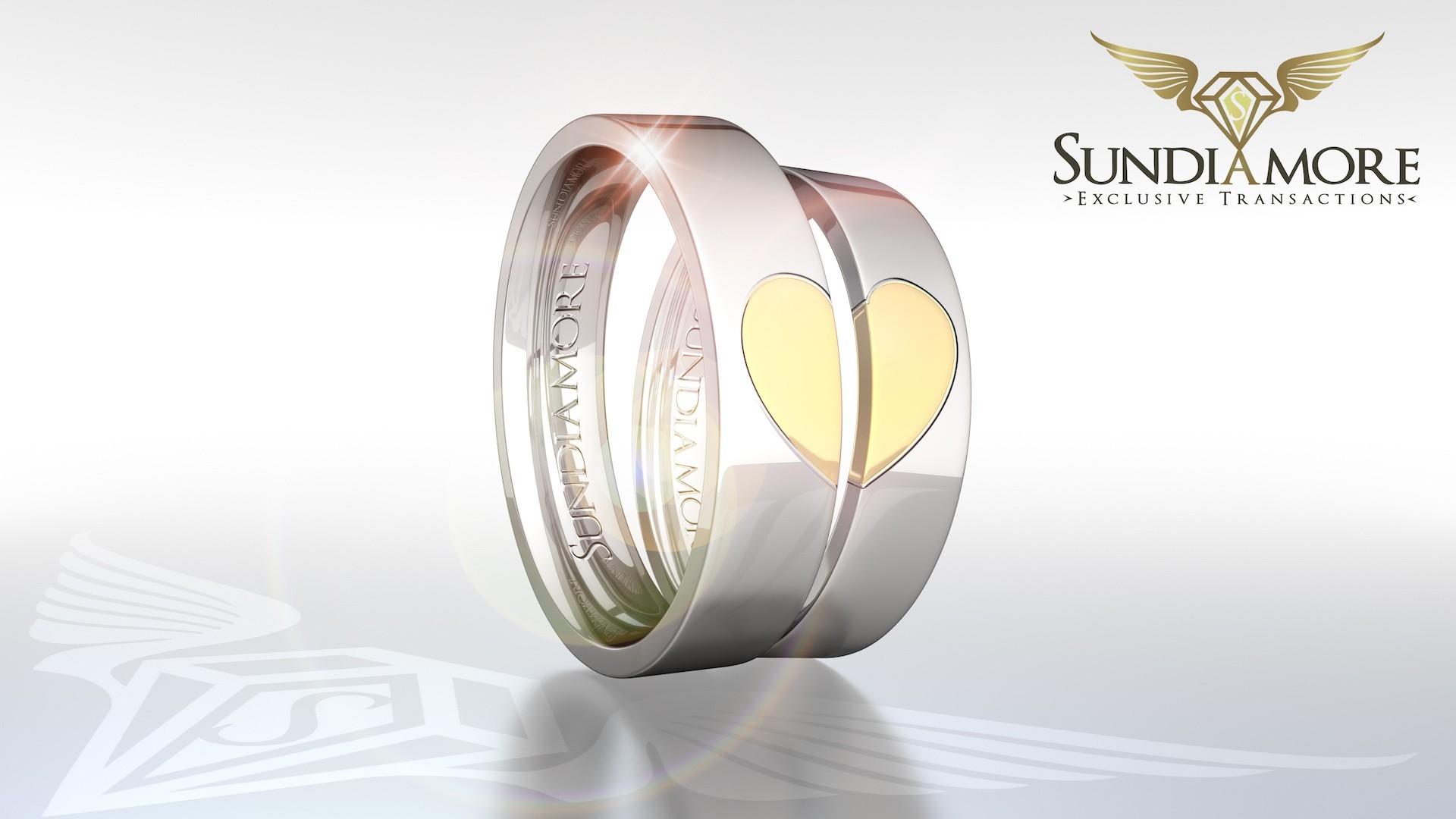 3.2490 zł złoto białe, serce żółte