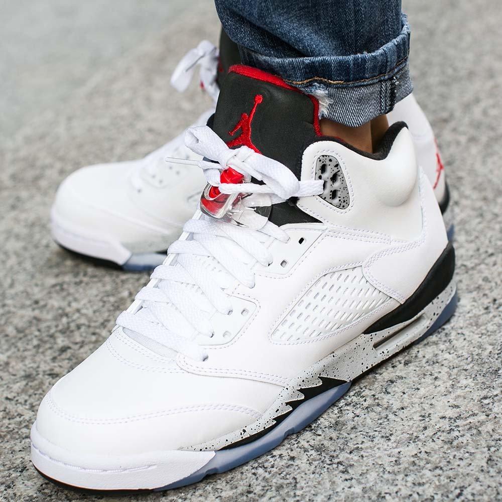 "Buty Air Jordan 5 Retro (BG) ""White Cement"""