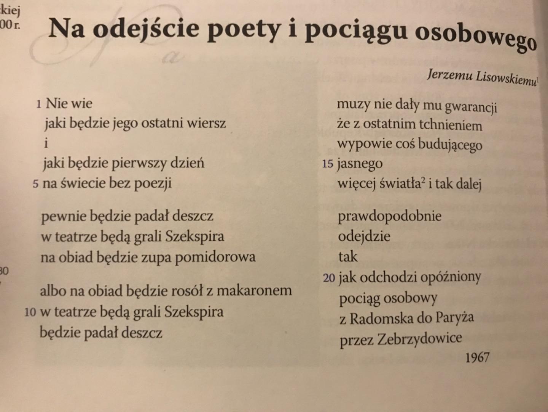 Interpretacja Wiersza Tadeusza Różewicza Zapytajonetpl