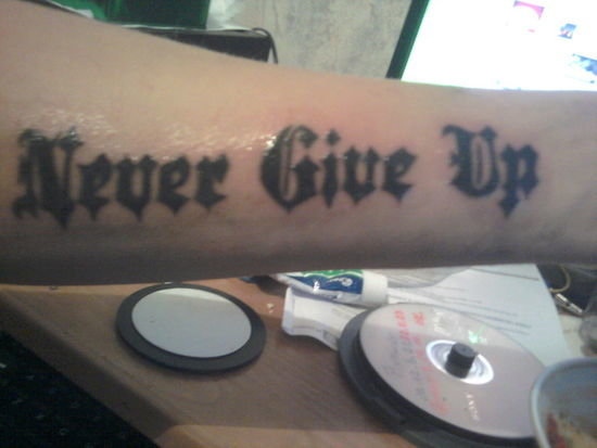 Jaki Napis Wybralibyście Na Tatuaż Zapytajonetpl