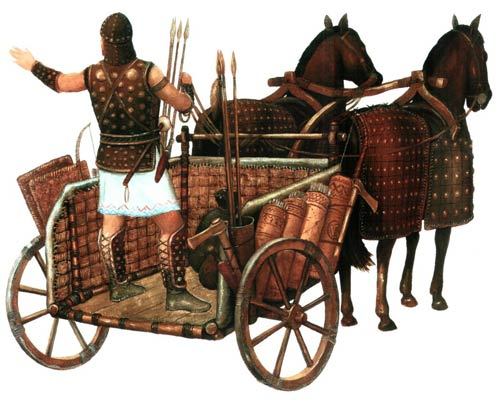 Wybierali się w wyprawy pokojowe i wojenne za pomocą rydwanów i okiełznanych przez nich koni