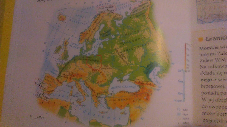 Na Podstawie Mapy Oblicz Rozciaglosc Rownoleznikowa I Poludnikowa
