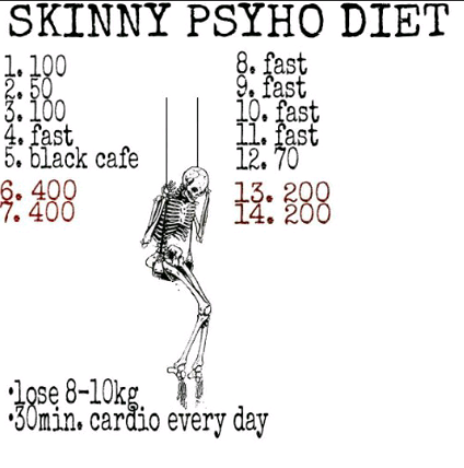 skinny psycho diet