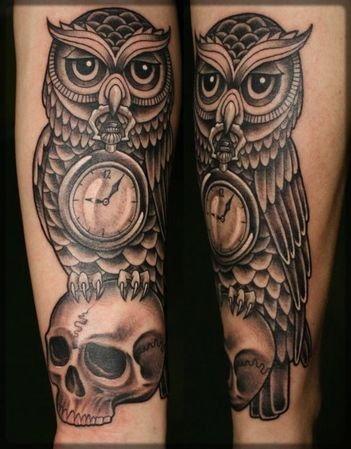 Co Oznacza Tatuaż Sowa Wraz Z Zegarkiem Tak Jak Na