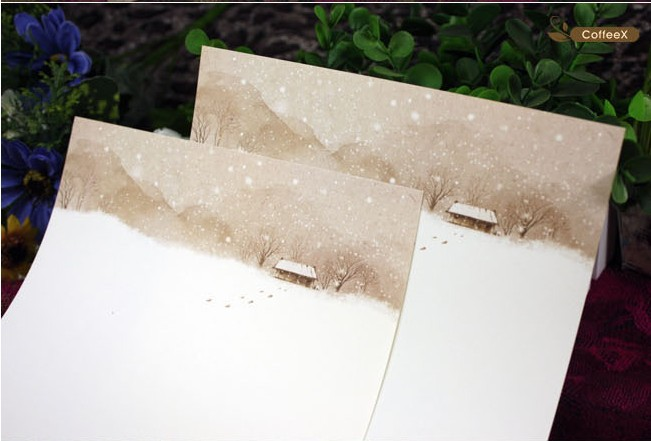 Coffeex-Pastoral-letter-paper-winter-stationery-romantic-little-small-fresh-50sheets-lot-wholesale-discounts-free-shipping.jpg