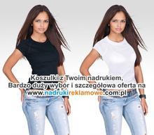 Koszulki z nadrukiem reklamowym.