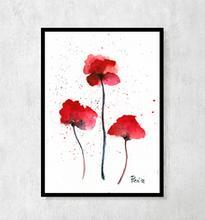 """Plakat botaniczny """"Trzy Maki polne"""" A4"""