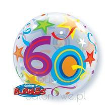 Balon Bubble - 60 urodziny z helem