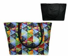 Kolorowa torba plażowa w trójkąty - czarny || niebieski || czerwony || zielony || biały || pomarańczowy || wielokolorowy || wielobarwny || żółty