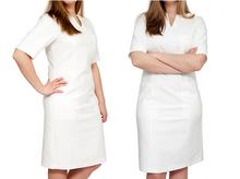 Sukienka medyczna kosmetyczna ecru