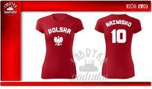 T-shirt z NADRUKIEM DLA KIBICA DAMSKA
