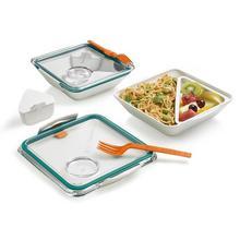 Lunch box BOX APPETITE (morsko-pomarańczowy)