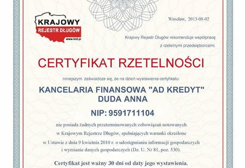 Kredyty, pożyczki