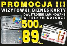 Wizytówki, reklama