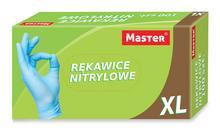 """Rękawice nitrylowe bezpudrowe """"XL"""" MASTER S-088"""
