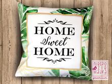 "Poduszka zamsz ""Home sweet home"""