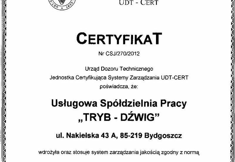 dźwigi - Usługowa Spółdzielnia Pra... zdjęcie 2