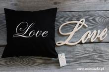 Poduszka z napisem Love