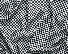 Żakard z geometrycznym wzorem