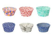 Papilotki cupcake okrągłe – różne wzory i kolory