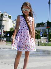 Letnia sukienka w groszki