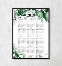 Kalendarz botaniczny na rok 2019 z kwiatami