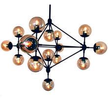 Lampa wisząca ASTRIFERO-15 bursztynowo czarna