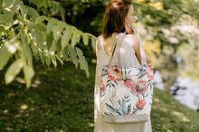 kompaktowa torebka z bawełny w kwiaty
