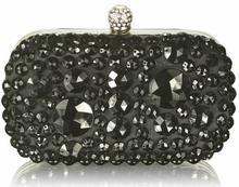 Kryształowa czarna wizytowa torebka damska BLACK