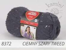Lisa 8372 ciemny szary tweed