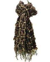 Melanżowy szalik brązowo-beżowy BROWN - brązowy || beżowy