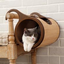 Bambusowa półka dla kota EKO