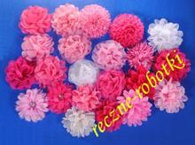 Kwiaty materiałowe - gotowe aplikacje do odzieży
