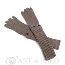 Beżowe uniwersalne rękawiczki 3 w 1 długie, krótkie, mitenki - beżowy