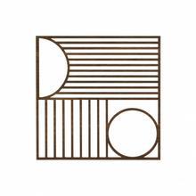 Podkładka dębowa kwadratowa Outline - ferm LIVING