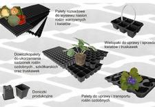 tacki, palety na rośliny, doniczki plastikowe